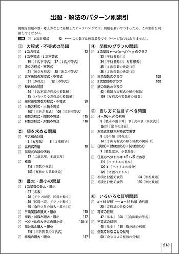 改訂版 入試必携168 文系対策 数学ⅠIIAB 見て解いて確かめる応用自在の定石手帳 内容4