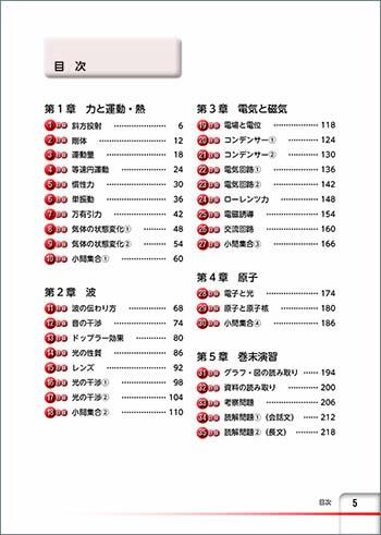 チャート式問題集シリーズ 35日完成! 大学入学共通テスト対策 物理 目次