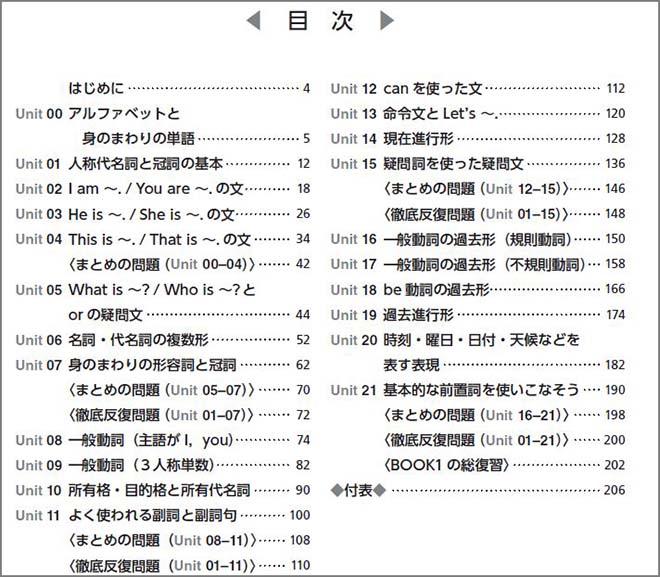 新訂版 徹底反復シリーズ 《5-STAGE》英文法完成 BOOK 1 目次